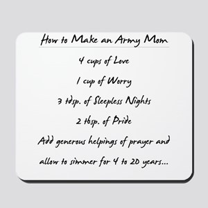 """Army Mom Recipe"" Mousepad"