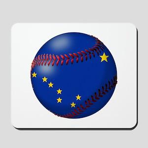 Baseball Alaska Flag Mousepad