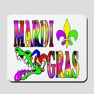 Mardi Gras with Gator Mousepad