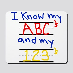 ABCs and 123s Mousepad