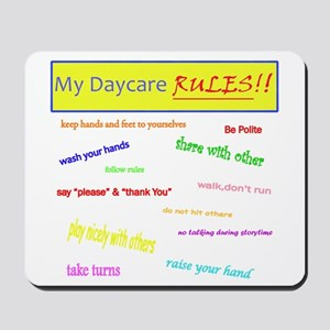 My Daycare Rules Mousepad