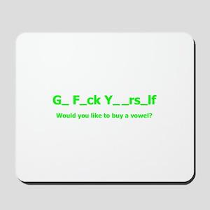 Buy a vowel Mousepad