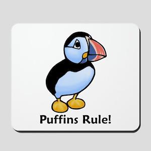 Puffins Rule! Mousepad