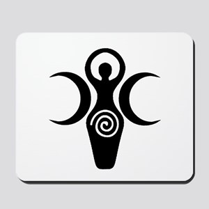 Goddess Crescent Moons Mousepad