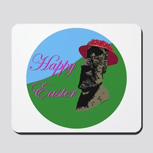 Happy Easter Island Mousepad