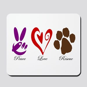 Peace, Love, Rescue Mousepad