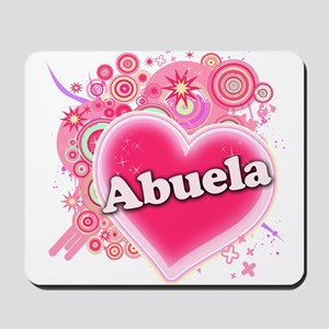 Abuela Heart Art Mousepad