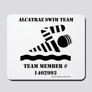 Alcatraz Swim Team Mousepad