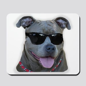 Pitbull in sunglasses Mousepad
