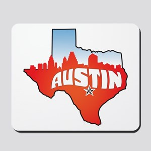 Austin Texas Skyline Mousepad