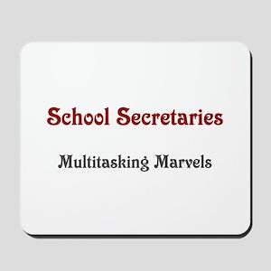 School Sec. Multitasking Marvels Mousepad