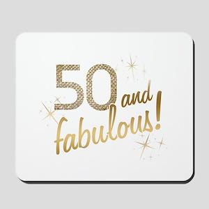 50 and Fabulous Glitter Mousepad