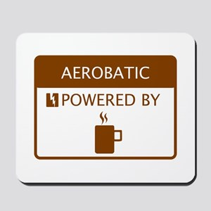Aerobatic Powered by Coffee Mousepad
