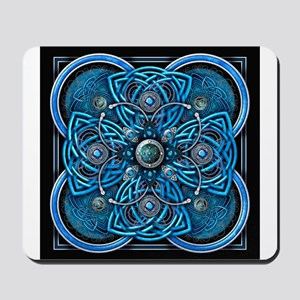 Blue Celtic Tapestry Mousepad
