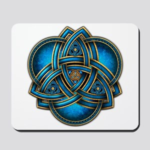 Blue Celtic Triquetra Mousepad