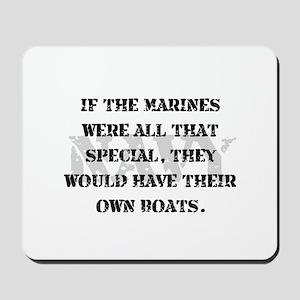Navy Marines Boats Mousepad