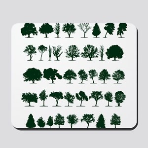 Tree Silhouettes Green 1 Mousepad