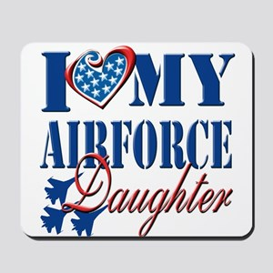 I Love My Airforce Daughter Mousepad