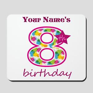 8th Birthday Splat - Personalized Mousepad