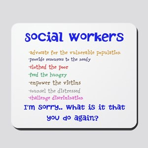 Social Work Mousepad