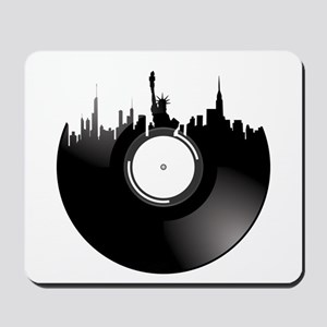 New York City Vinyl Record Mousepad