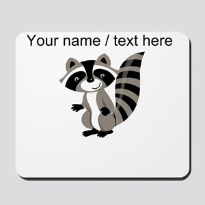 Custom Cartton Raccoon Mousepad
