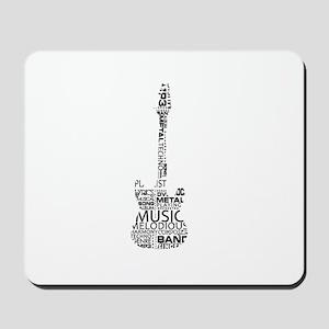 guitar word fill black music image Mousepad
