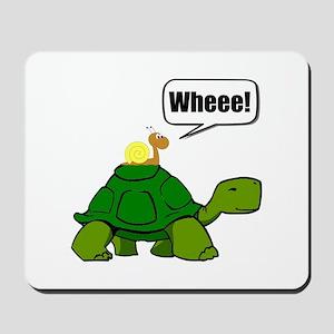 Snail Turtle Ride Mousepad