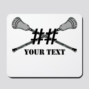 Lacrosse Camo Sticks Crossed Personalize Mousepad