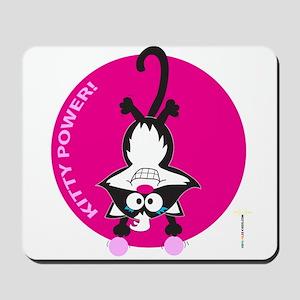 PINK KITTY POWER! Mousepad