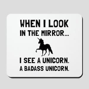 Badass Unicorn Mousepad