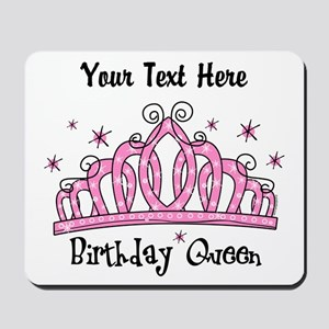 Personalized Tiara Birthday Queen Mousepad