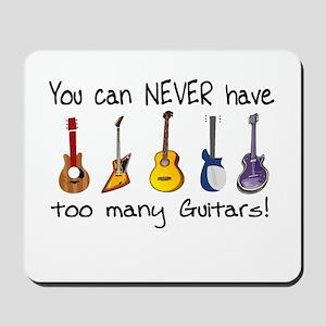 Too many guitars Mousepad
