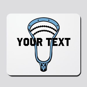 Lacrosse Personalize Head CBlue Mousepad