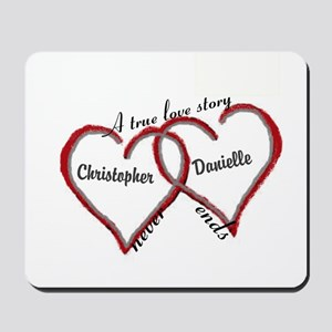 A true love story: personalize Mousepad