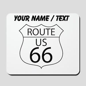 Custom U.S. Route 66 Sign Mousepad