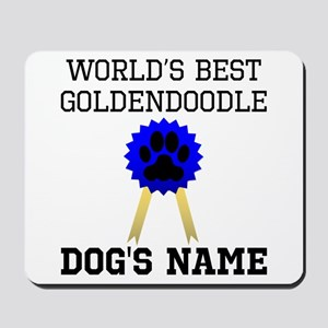 Worlds Best Goldendoodle (Custom) Mousepad
