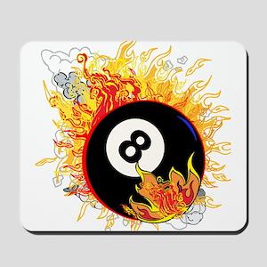 Fiery Eight Ball Mousepad