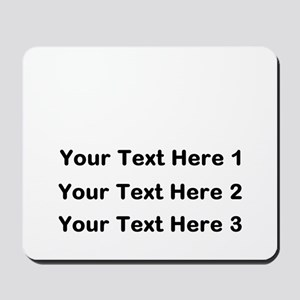 Make Personalized Gifts Mousepad