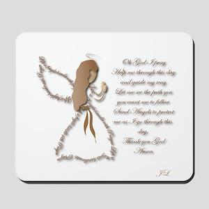 Life is fragile Angel Mousepad