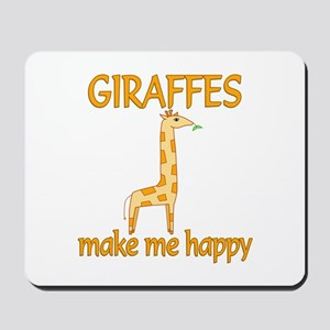 Giraffe Happy Mousepad