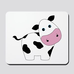 Cute Black and White Cow Mousepad