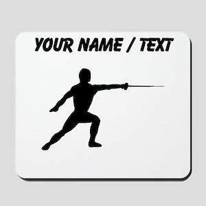 Custom Fencer Silhouette Mousepad