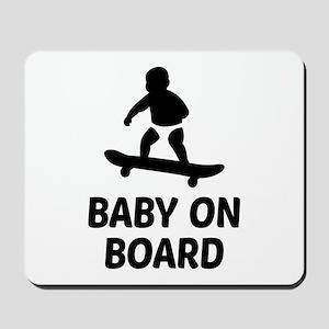 Baby On Board Pun Mousepad