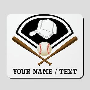 Custom Name/Text Baseball Gear Mousepad