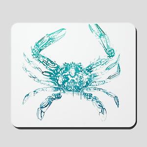 coastal nautical beach crab Mousepad