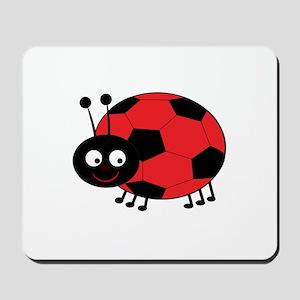 Soccer Lady Bug Mousepad