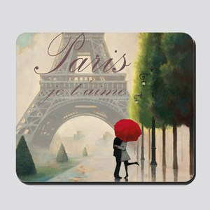 Je T'aime Paris Mousepad