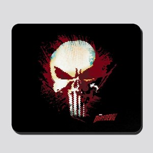 Punisher Skull Red Spatter Mousepad