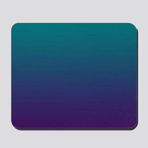 Ombre Purple And Teal Mousepad